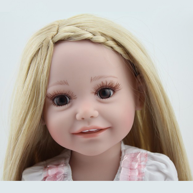 Baby Girl With Blonde Hair And Green Eyes.