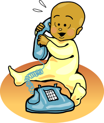 Baby Talking On Phone Clipart.