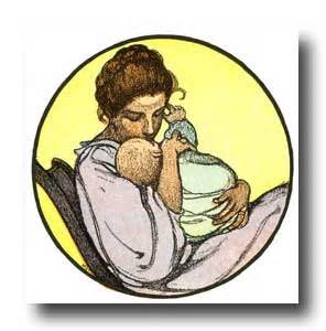 Clip Art Mother Rocking Baby Chair Clipart.