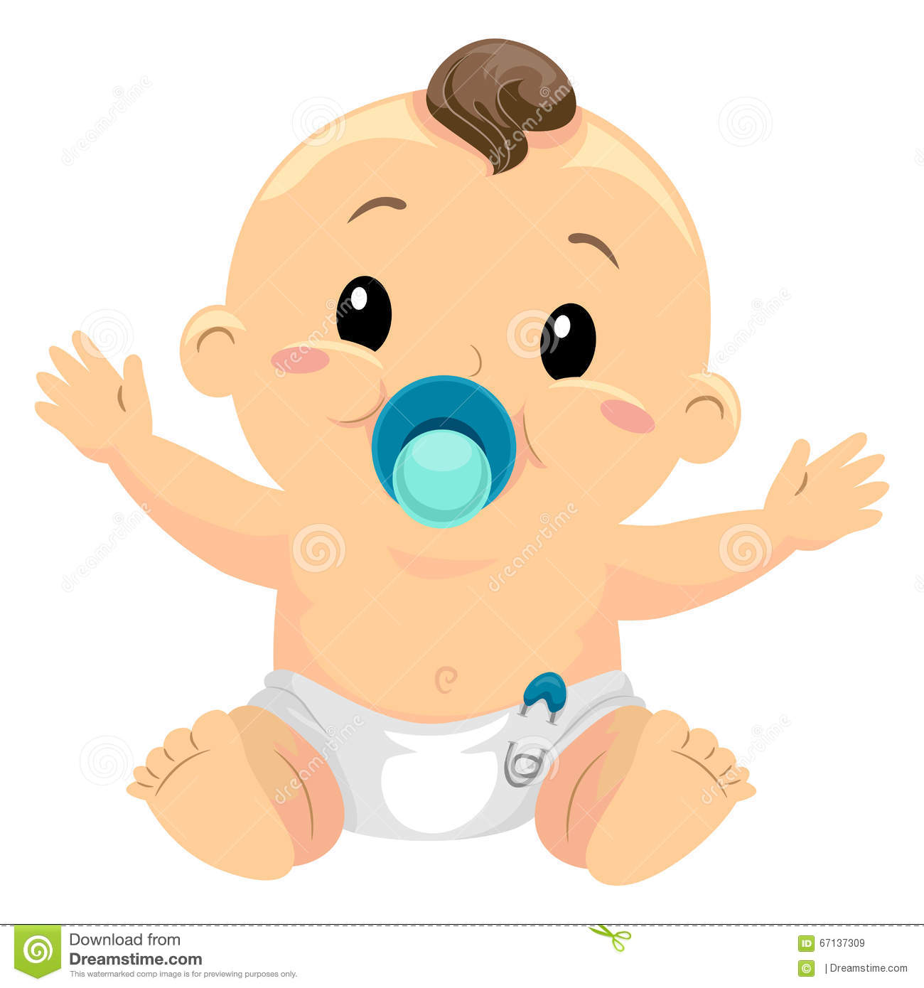 936 Pacifier free clipart.