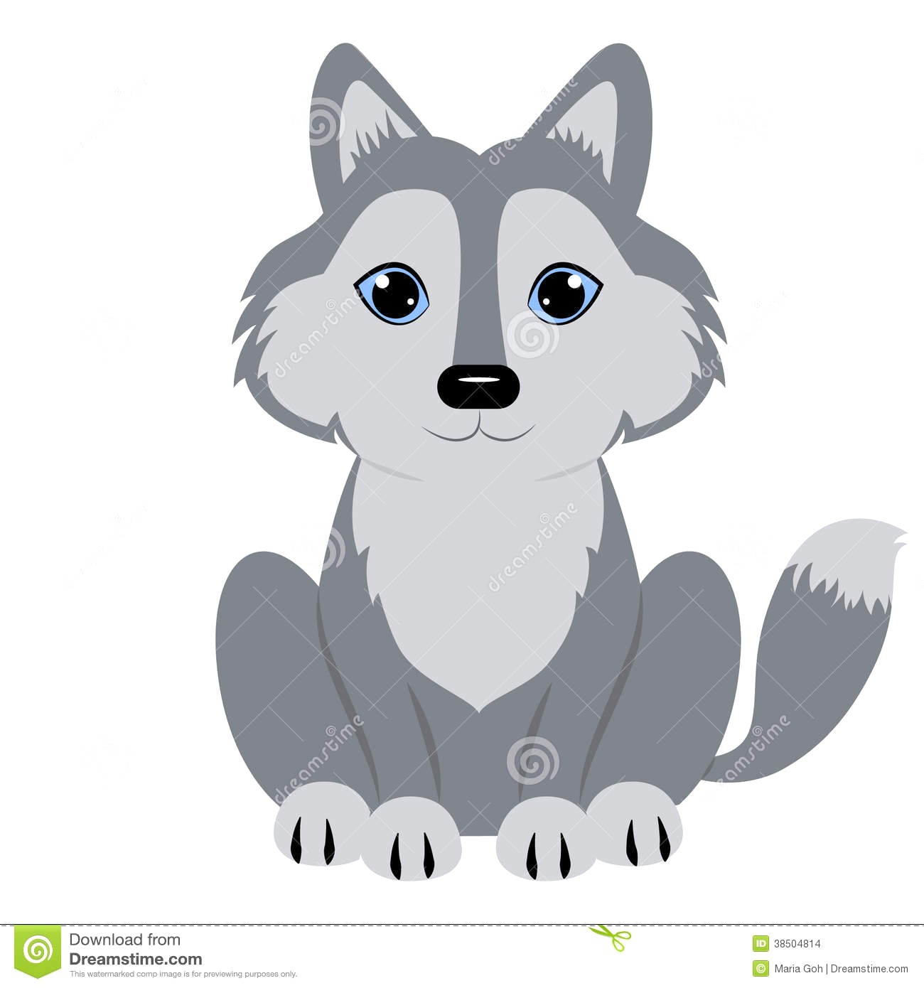 Baby wolf clipart 4 » Clipart Station.