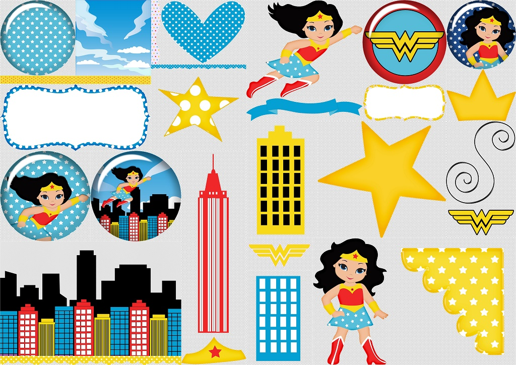 Wonder Woman Baby Clipart..