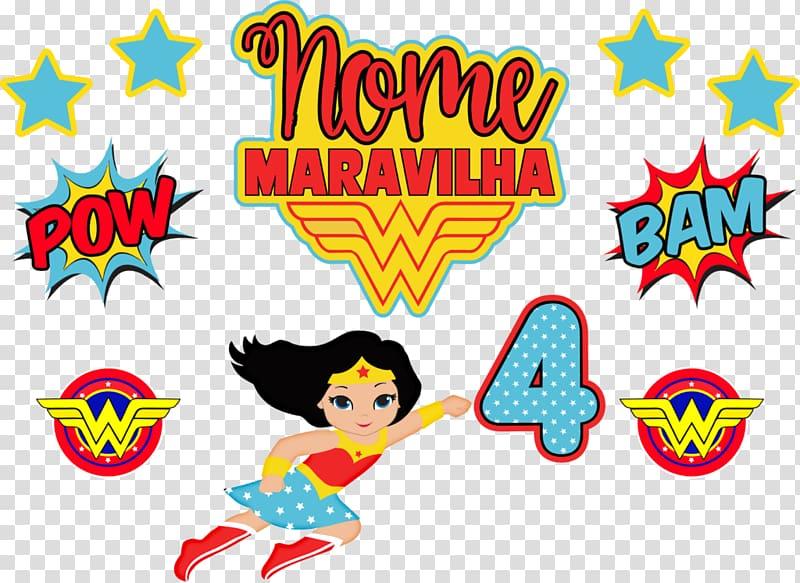 Infant Wonder Woman Superhero Brazil , MULHER MARAVILHA transparent.