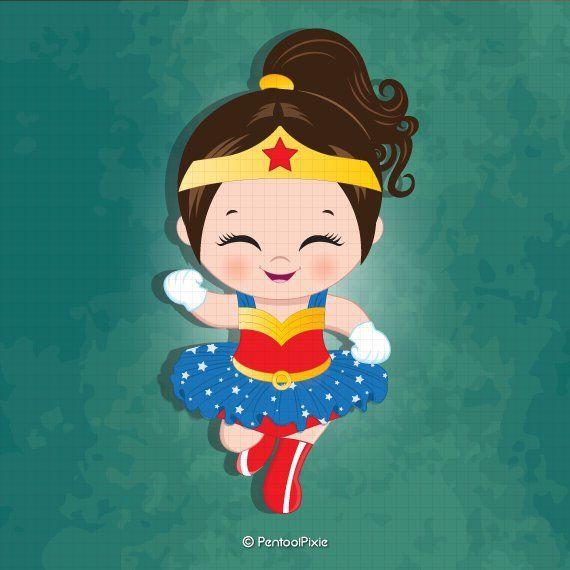 Wonder woman baby girl clipart , Superhero baby girl clipart, Baby.