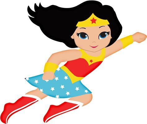 Baby Wonder Woman Clipart Flying Clipground