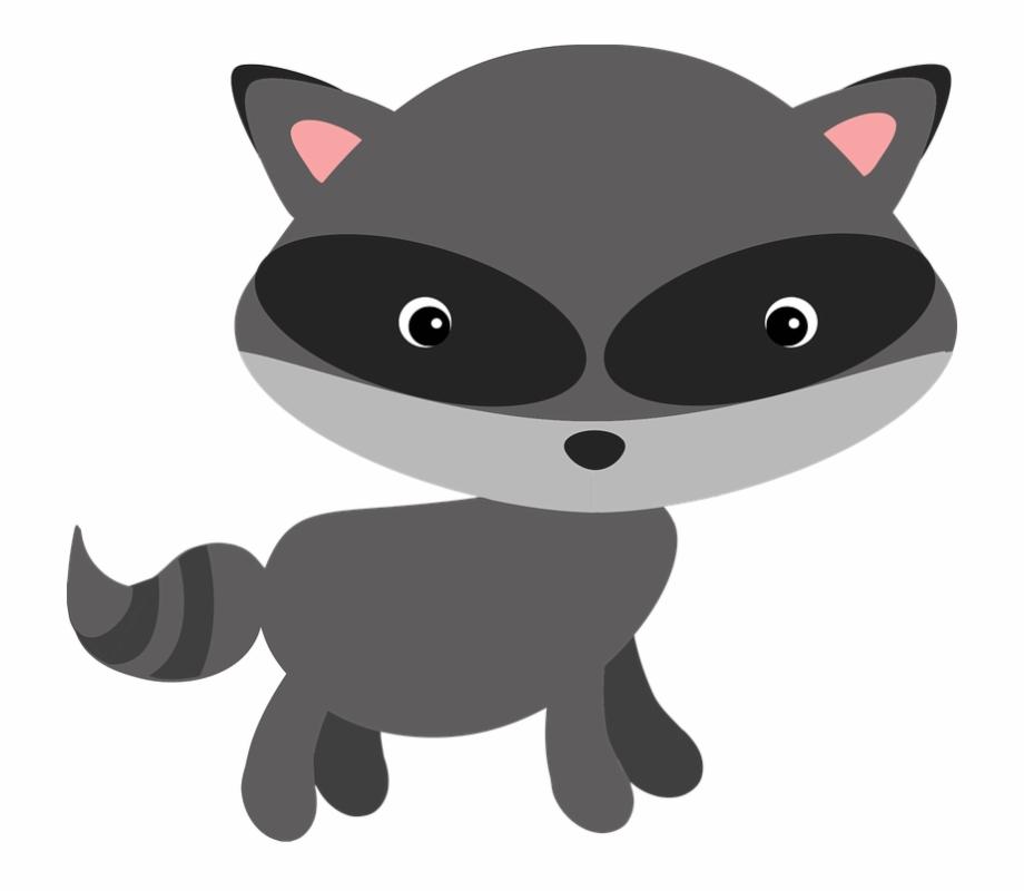 Raccoon Woodland Animal Masked Adorable.