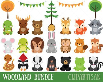 Baby woodland animals clipart 4 » Clipart Station.
