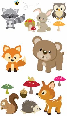 Baby woodland animals clipart 8 » Clipart Station.