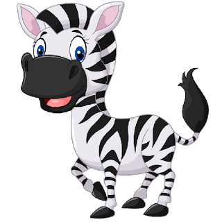 Cute baby zebra clipart transparent.