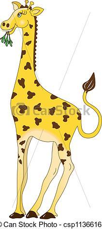Clip Art Vector of Giraffe.