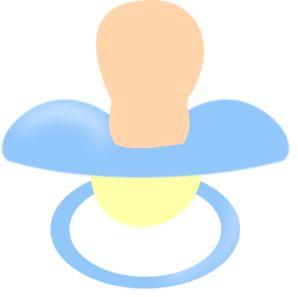 Baby dummy clip art.