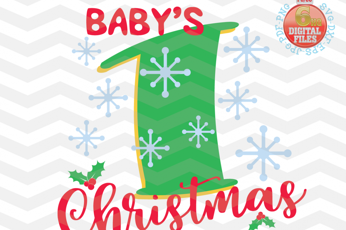 Babys First Christmas SVG.