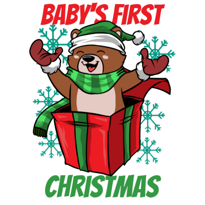 Babys first christmas.