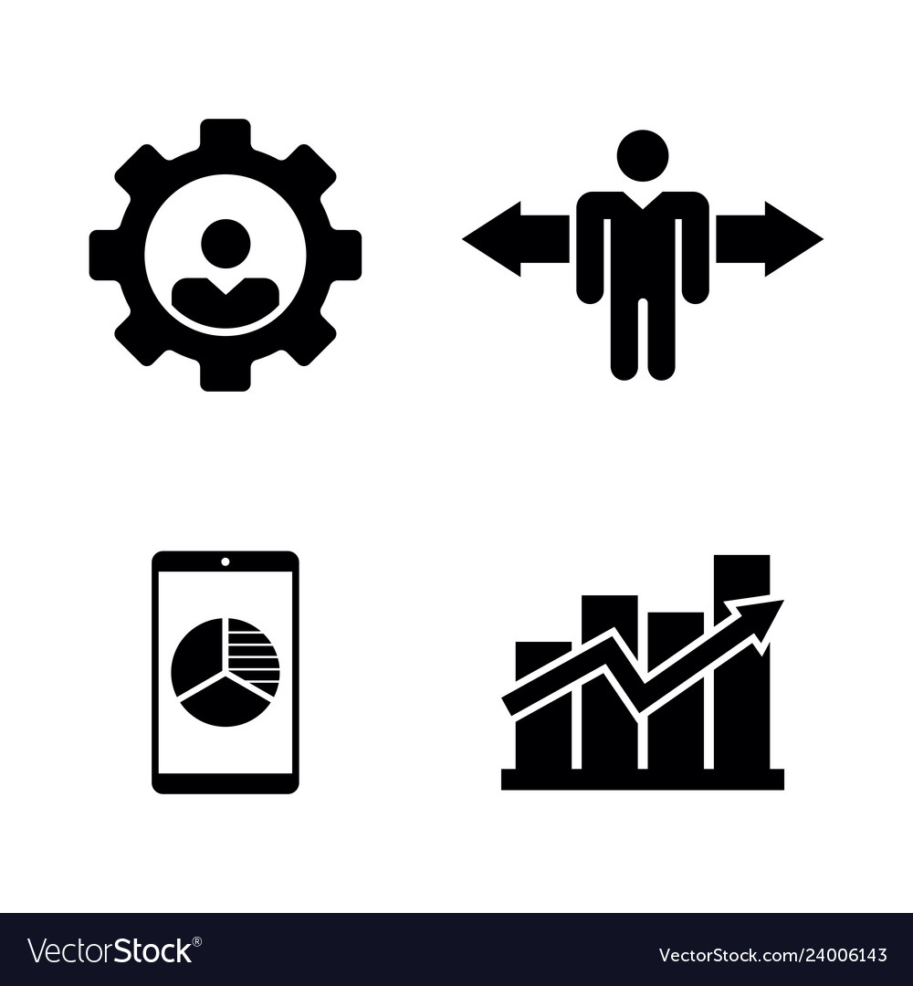 Job vacancy work search simple related icons.
