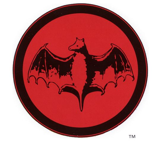 Bacardi Bat Logo 1890 in 2019.