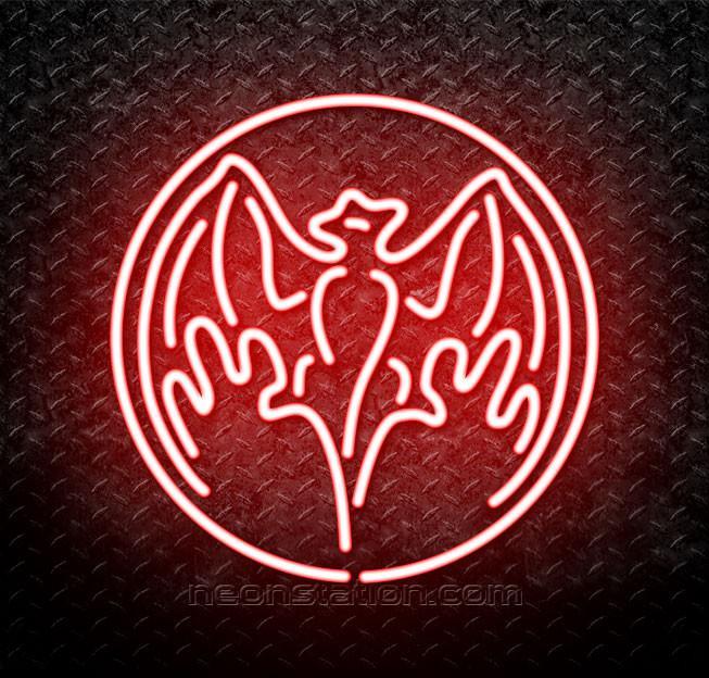 Bacardi Bat Logo Neon Sign.