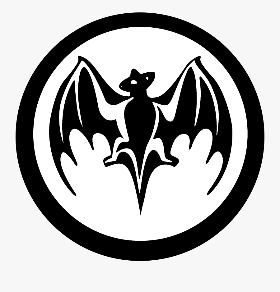 Bacardi Bat Logo Black And White.