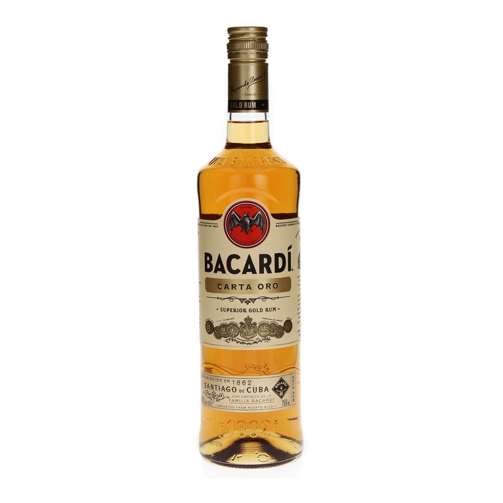 BACARDI GOLD (CARTA ORO) 750ML X1.