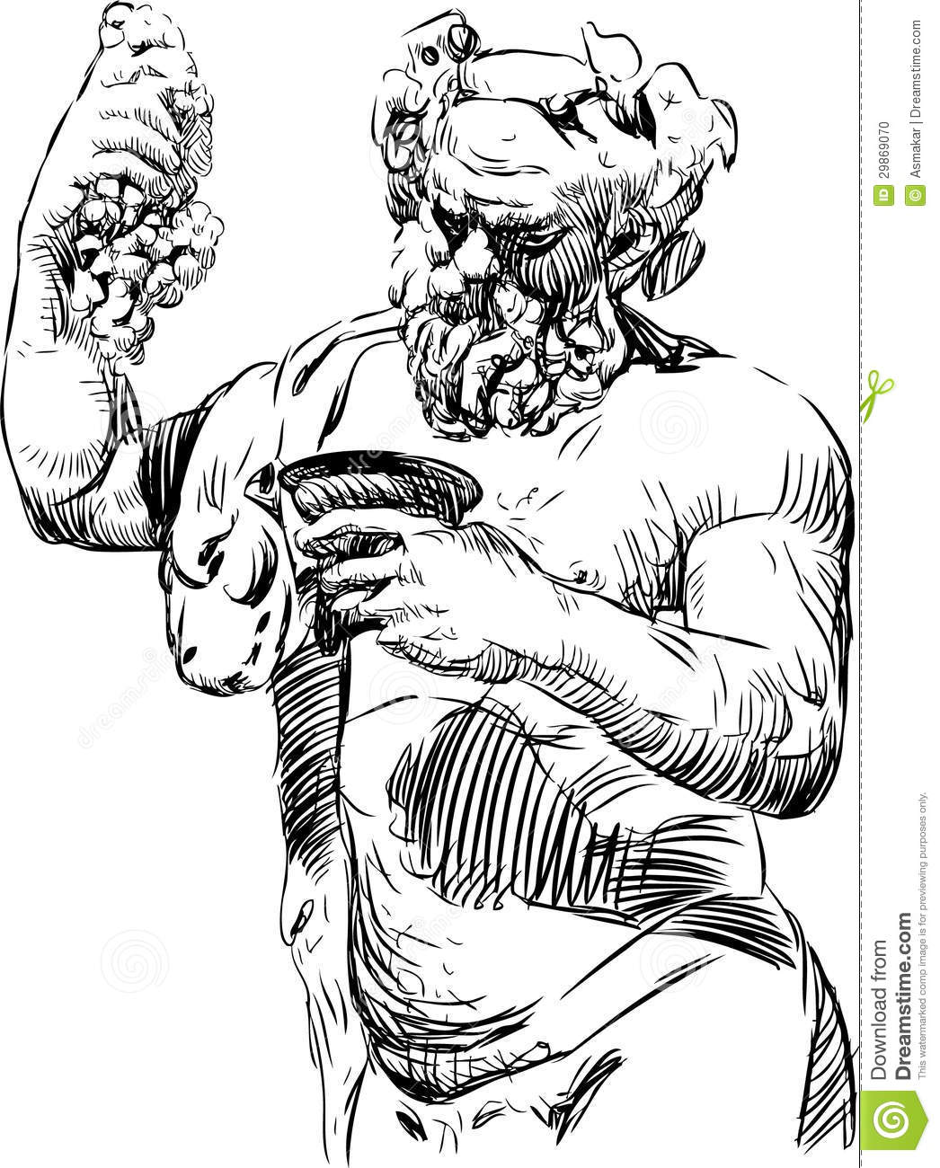Bacchus With A Bowl Stock Photo.