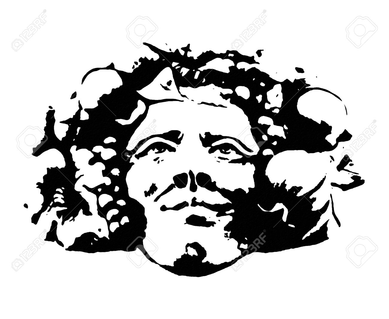 Clipart E And Artistic Rappresentation Of The Bacchus Head, Winw.