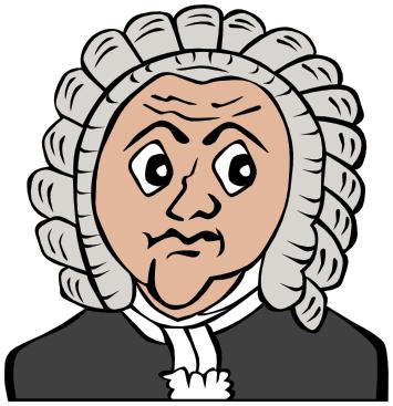 Bach clipart.