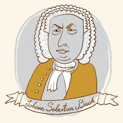 Johann sebastian bach clipart.