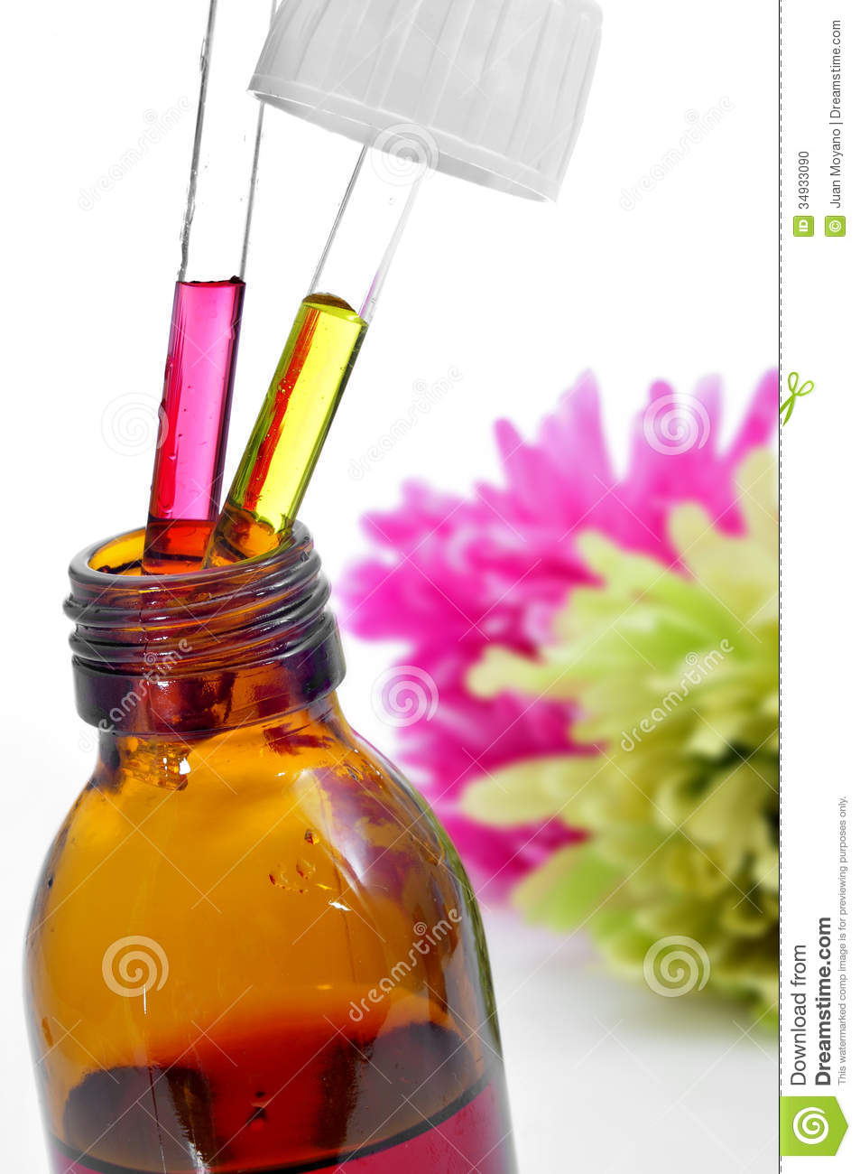 Bach Flower Remedies Stock Photo.