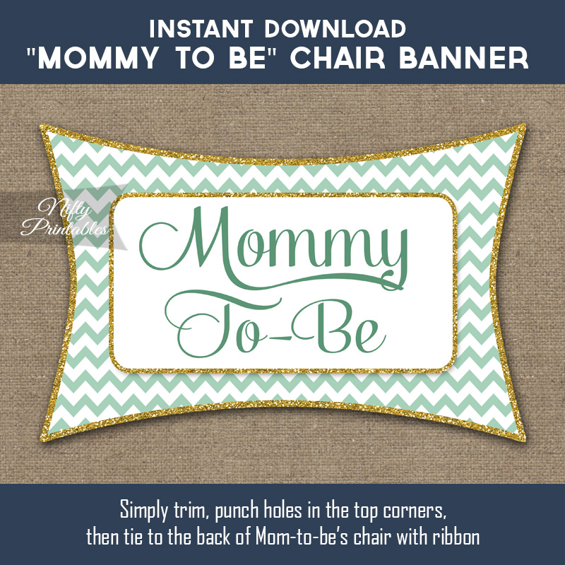 Printable Baby Shower Chair Sign.