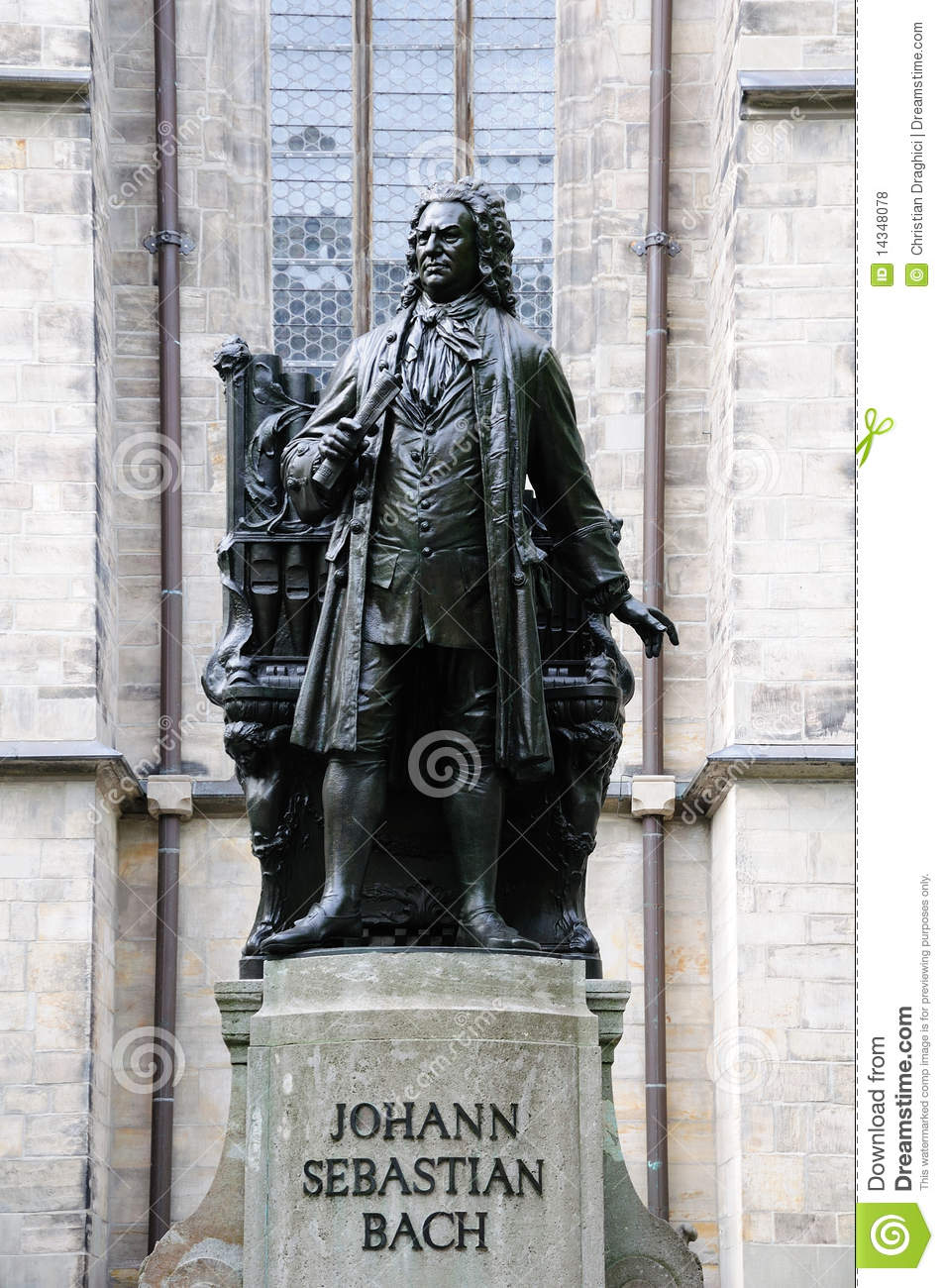 Johann Sebastian Bach Royalty Free Stock Photos.