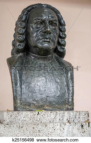 Pictures of Bust of Johann Sebastian Bach in Weimar k25156498.