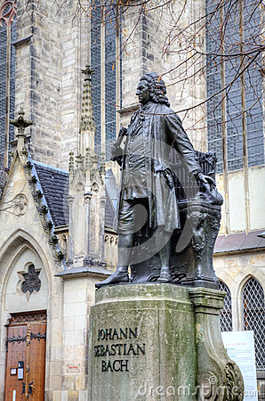 The Statue Of Johann Sebastian Bach Royalty Free Stock Photos.