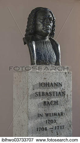 "Picture of ""Monument to Johann Sebastian Bach, bronze bust on a."