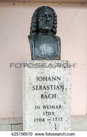 Stock Photography of Bust of Johann Sebastian Bach in Weimar.