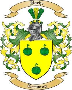 Bache Family Crest from Germany by The Tree Maker.