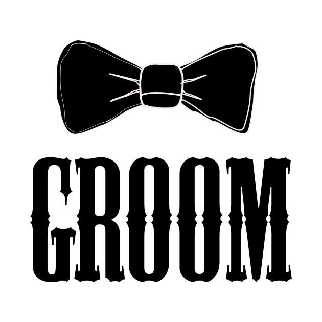 Groom Bowtie Shirt Bachelor Party Tee.
