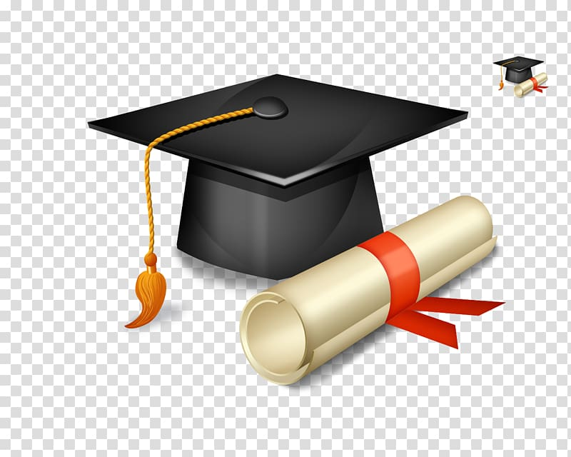 Academic hat and diploma illustration, Bharati Vidyapeeth.