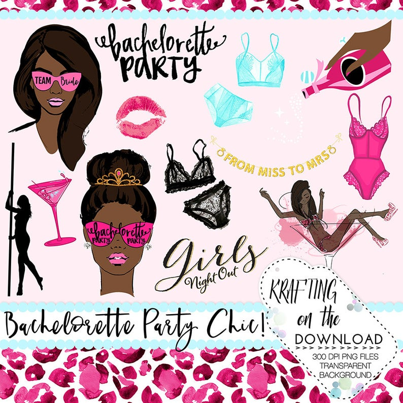 bachelorette clip art bachelorette clipart bachelorette african american  planner girl clipart bachelorette party png file.