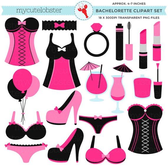 Bachelorette Clipart Set.
