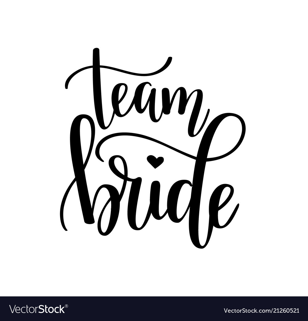 Team bride hen party bachelorette wedding vector image.
