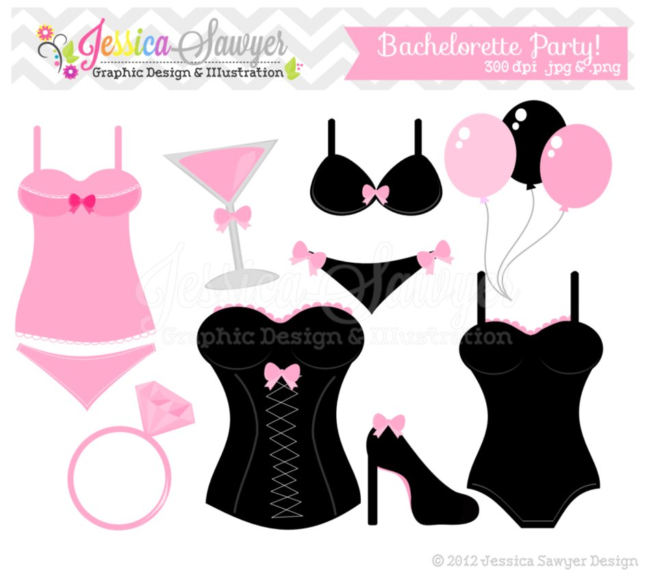 Bachelorette Party Clip Art by JessicaSawyerDesign on DeviantArt.