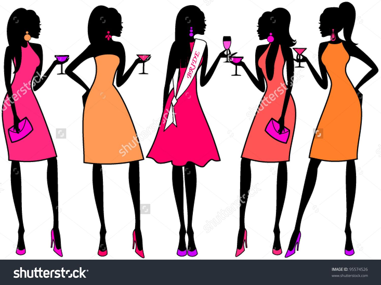 Bachelorette party clipart images.