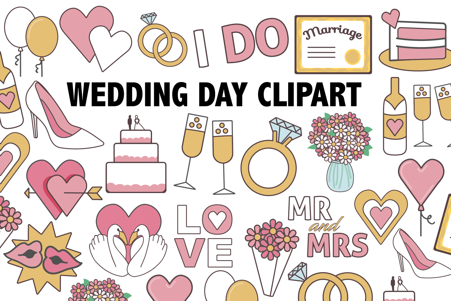 Wedding Day Clipart.