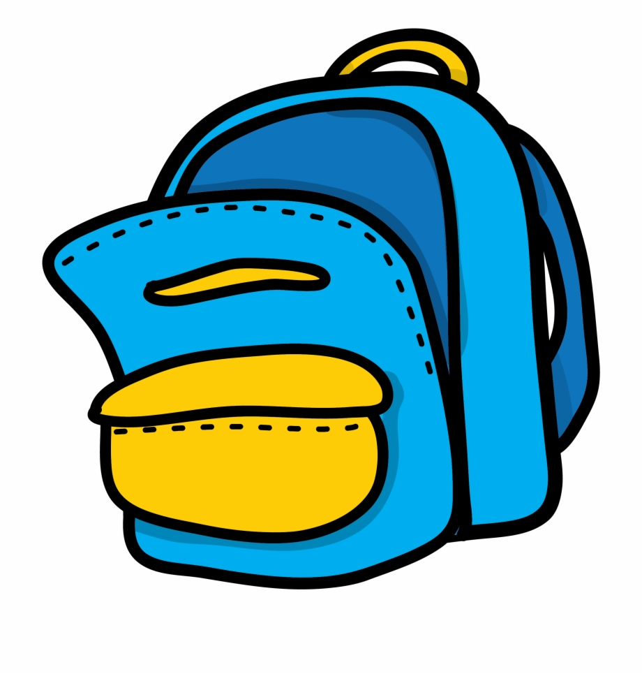 Blue Yellow Backpack Clipart Mon Sac D Cole.