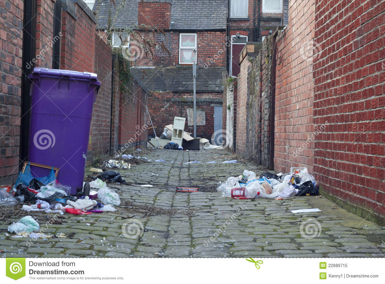 Dirty Back Alley Royalty Free Stock Photo.
