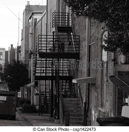 Stock Photos of back alley.