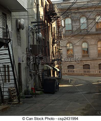 Stock Photo of Back alley.