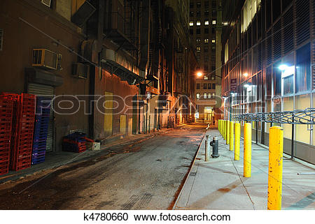 Stock Photography of Back Alley k4780660.