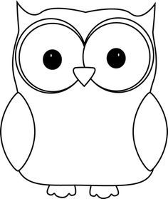 owl outline clipart #10