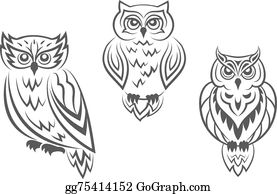 Black And White Owl Clip Art.
