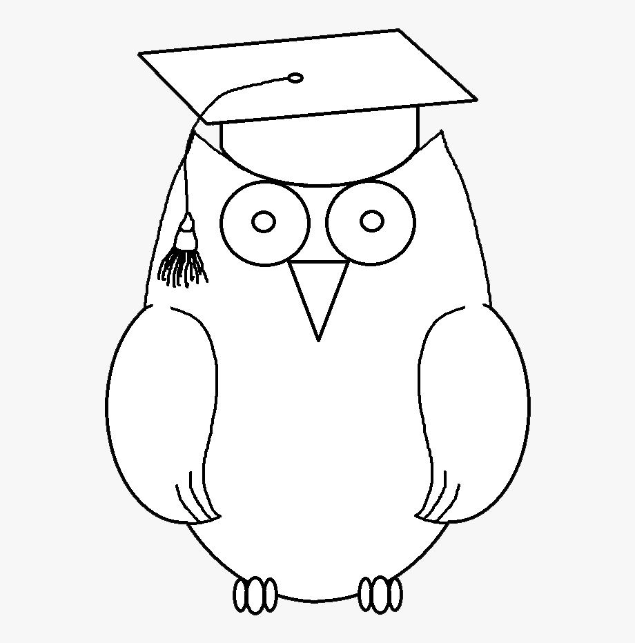 Sleeping Owl Clipart Black And White , Transparent Cartoon.